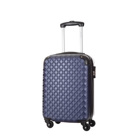 Steve Miller Blue Marine 4 Wheel Rigid Sailor Cabin Suitcase 46 cm
