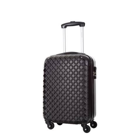 Steve Miller Black 4 Wheel Rigid Sailor Cabin Suitcase 46cm