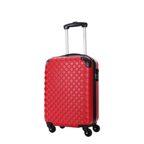 Steve Miller Sailor Red 4 Wheeled Cabin Suitcase 46cm