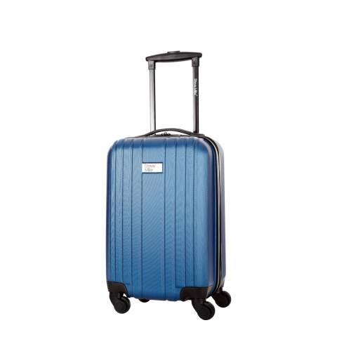 Steve Miller Blue 4 Wheel Rigid Living Cabin Suitcase 45cm