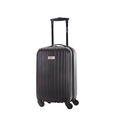 Steve Miller Black 4 Wheel Rigid Living Cabin Suitcase 45 cm