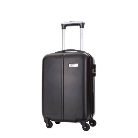 Travel One Black 4 Wheel Rigid Wild Cabin Suitcase 46 cm