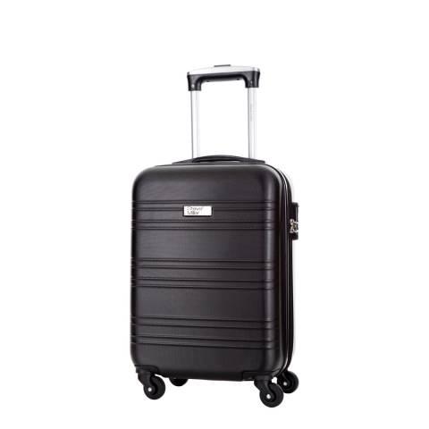 Steve Miller Black 4 Wheel Child Cabin Suitcase 46 cm