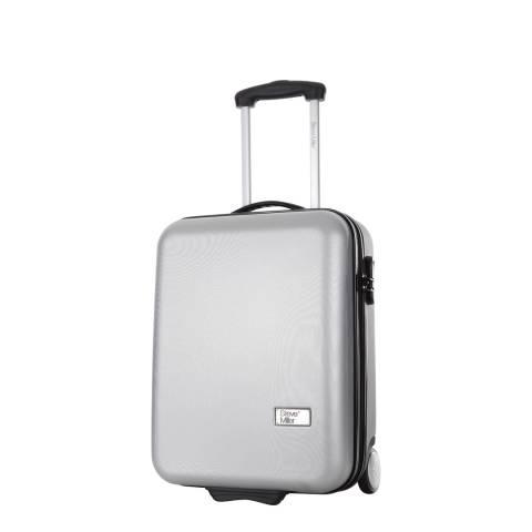 Steve Miller Silver 2 Wheel Hover Cabin Suitcase 48cm