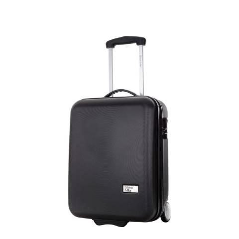 Steve Miller Black 2 Wheel Hover Cabin Suitcase 48cm