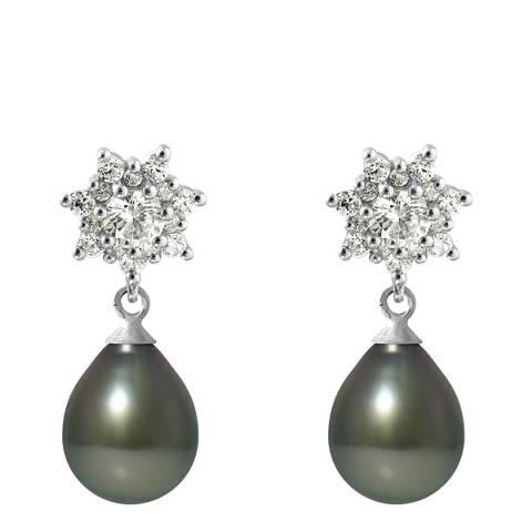 Ateliers Saint Germain Silver Star Tahiti Pearl Earrings