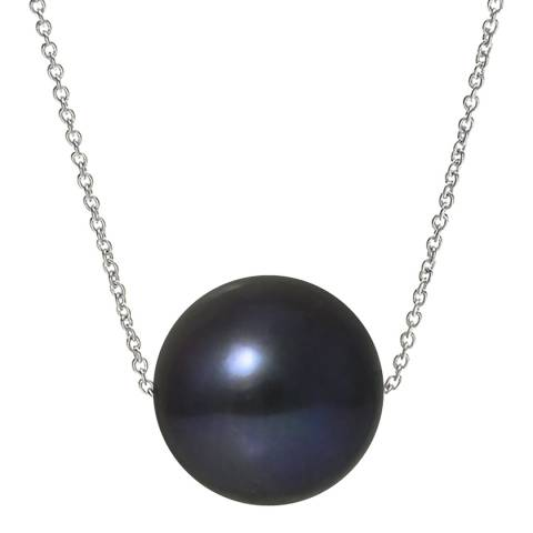 Ateliers Saint Germain Black Tahitian Style White Gold Freshwater Pearl Necklace