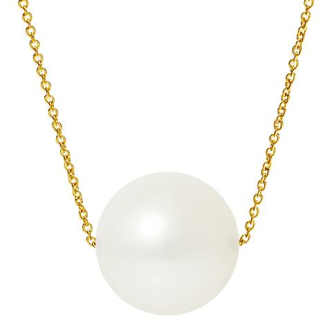 Ateliers Saint Germain Natural White Yellow Gold Freshwater Pearl Necklace