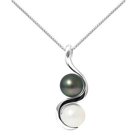 Mitzuko Natural White Silver Pearl Necklace