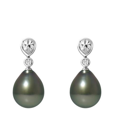 Atelier Pearls Silver Tahiti Pearl Earrings