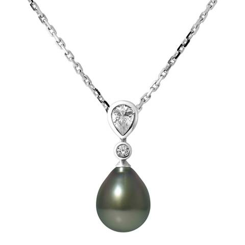 Ateliers Saint Germain Silver Tahiti Pearl Necklace 8-9mm