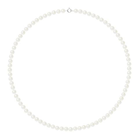 Ateliers Saint Germain Natural White/White Gold Freshwater Pearl Necklace 4-5mm
