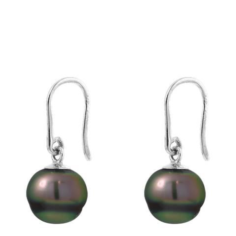 Atelier Pearls Silver Tahiti Pearl Earrings