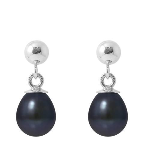 Ateliers Saint Germain Black Tahitian Style Silver Freshwater Pearl Earrings