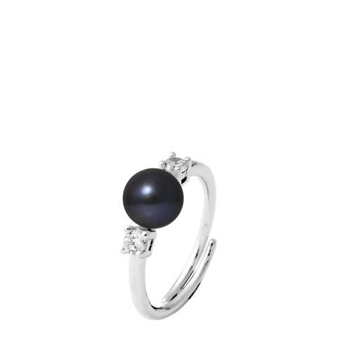 Ateliers Saint Germain Black Tahitian Style Silver Freshwater Pearl Ring