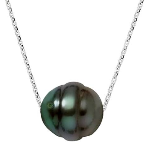 Ateliers Saint Germain Silver /Tahiti Pearl Necklace 10-11mm