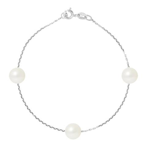 Atelier Pearls Natural White Silver Freshwater Pearl Bracelet