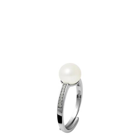 Atelier Pearls Natural White Silver Freshwater Pearl Ring