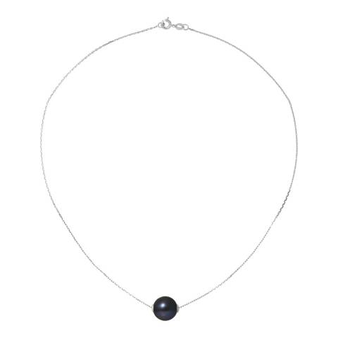 Ateliers Saint Germain Black Tahitian Style Silver Freshwater Pearl Necklace