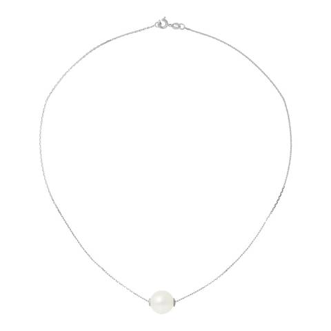 Atelier Pearls Natural White Silver Freshwater Pearl Necklace