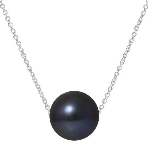 Atelier Pearls Silver /Black Tahitian Style Freshwater Pearl Necklace 9-10mm