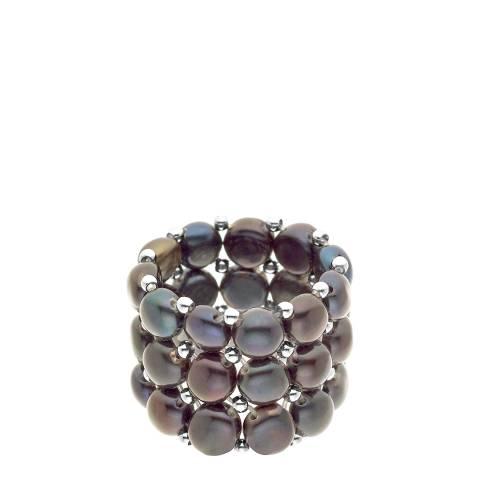 Atelier Pearls Black Tahitian Style Freshwater Pearl Ring