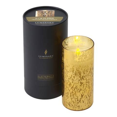 Luminara Gold Mercury Glass Candle 18cm
