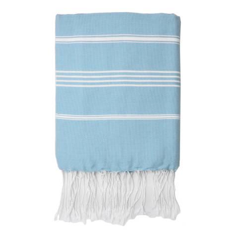 Febronie Mykonos Hammam Towel, Pale Blue