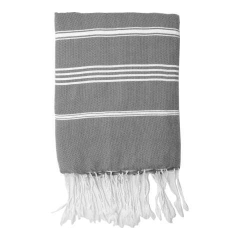 Febronie Mykonos Hammam Towel, Medium Grey