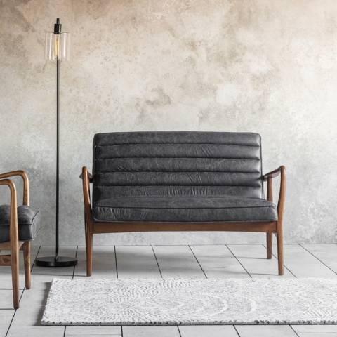 Gallery Datsun 2 Seater Sofa, Antique Ebony