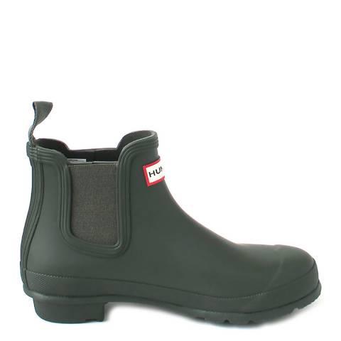 Hunter Women's Khaki Orignal Chelsea Ankle Boots