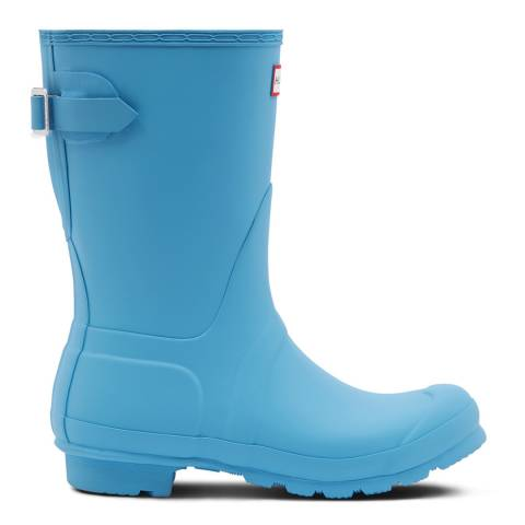 Hunter Womne's Blue Original Short Adjustable Wellington Boots
