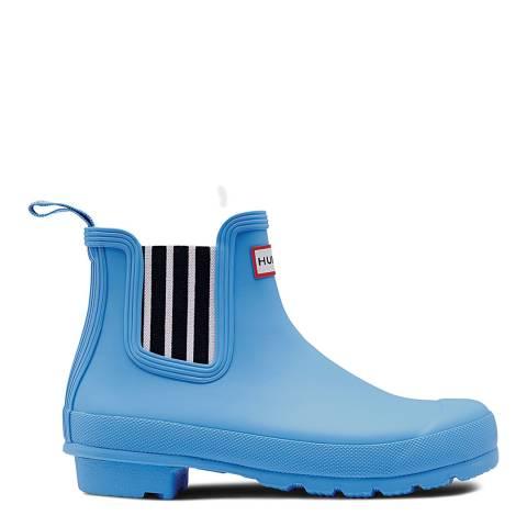 Hunter Women's Blue Original Garden Stripe Chelsea Boots