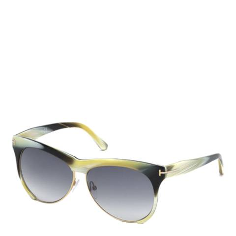 Tom Ford Women's Beige Horn Leona Sunglasses