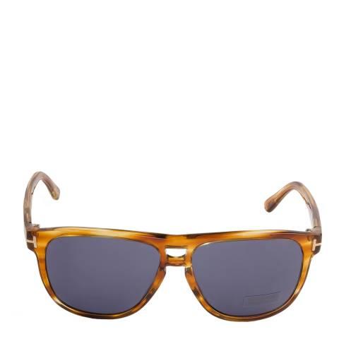 Tom Ford Women's Honey Striped Brown Lennon Sunglasses 55mm