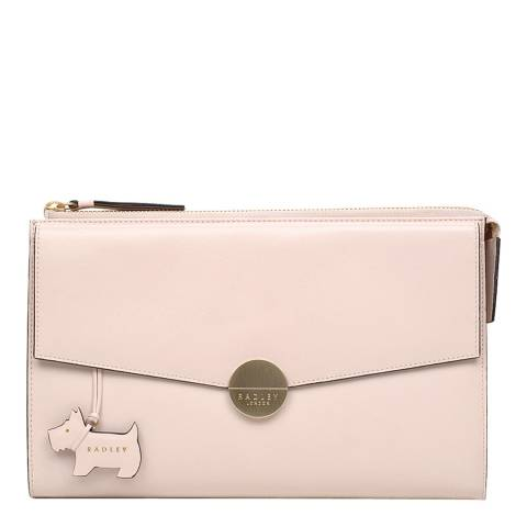 Radley Pale Pink Broad Street Leather Clutch