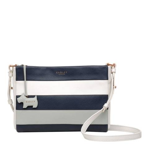 Radley Chalk Syon Park Leather Medium Ziptop Crossbody Bag