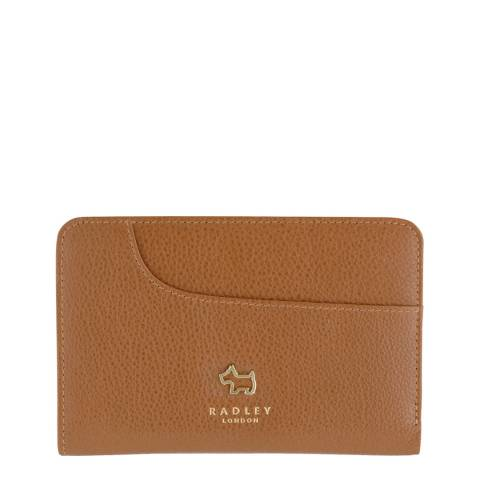Radley Tan Leather Medium Ziptop Pocket Purse
