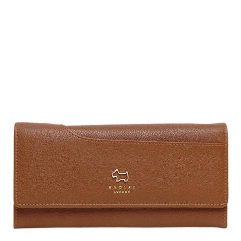 Radley Honey Pockets Leather Large Foldover Purse