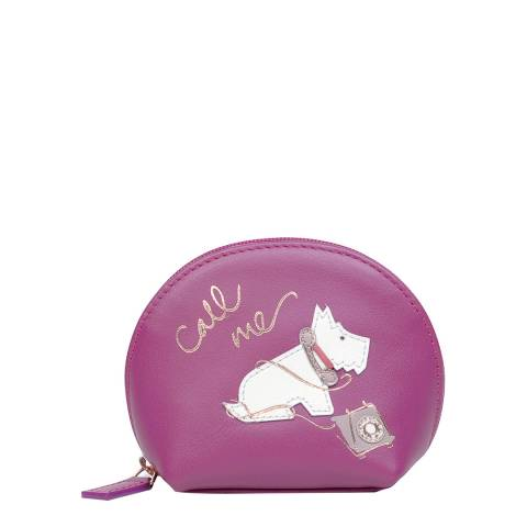 Radley Magenta Pink Call Me Leather Small Coin Purse
