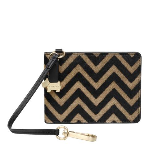 Radley Black/Gold Soutwark Park Leather Charm Chevron Bag