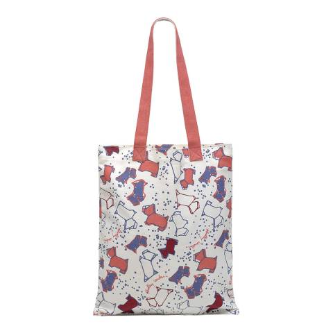 Radley Natural/Red Speckled Dog Medium Tote Bag