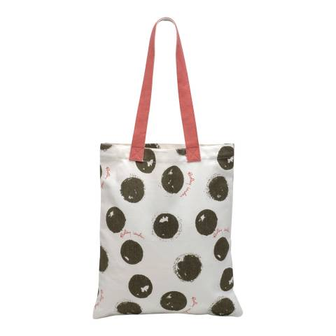 Radley Natural/Black Moon Dot Medium Tote Bag