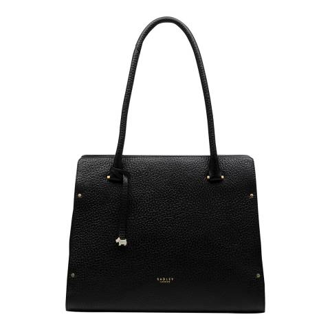 Radley Black Bow Lane Leather Large Zip Top Tote Bag