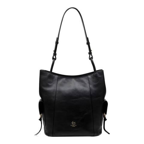 Radley Black Lambeth Mews Leather Large Hobo Bag