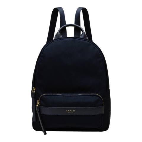 Radley Navy Harley Medium Ziptop Backpack