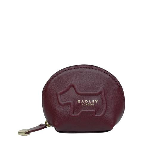 Radley Burgundy Radley Shadow Small Zip Around Coin Purse