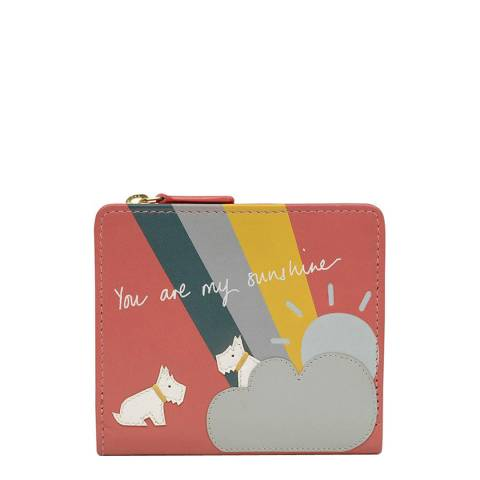 Radley Coral You are my Sunshine Medium Foldover Purse