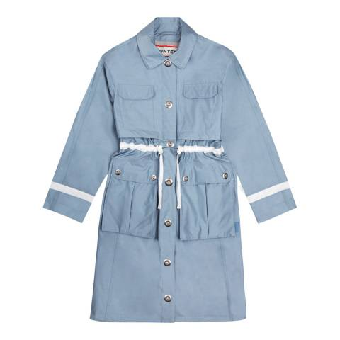 Hunter Light Blue Refined Garden Trench Coat