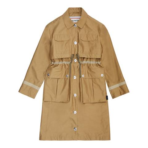 Hunter Beige Refined Garden Trench Coat